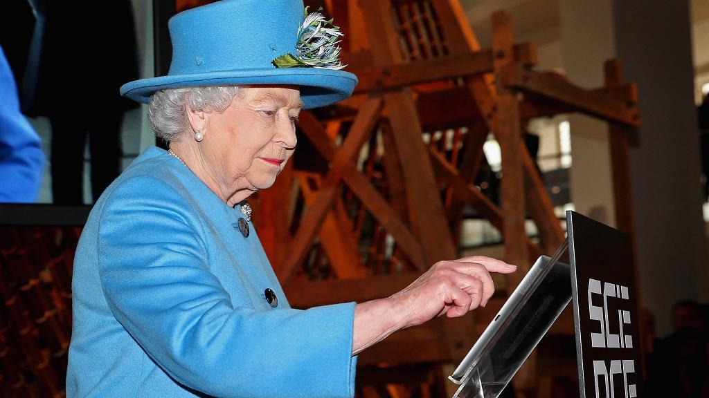 The Queen sent her first ever tweet in October last year.