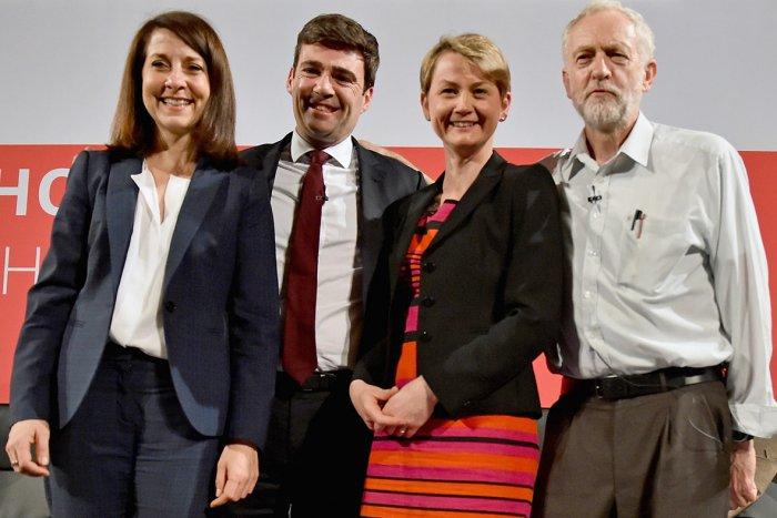 Labour leadership hopefuls (L-R): Liz Kendall, Andy Burnham, Yvette Cooper, and Jeremy Corbyn.