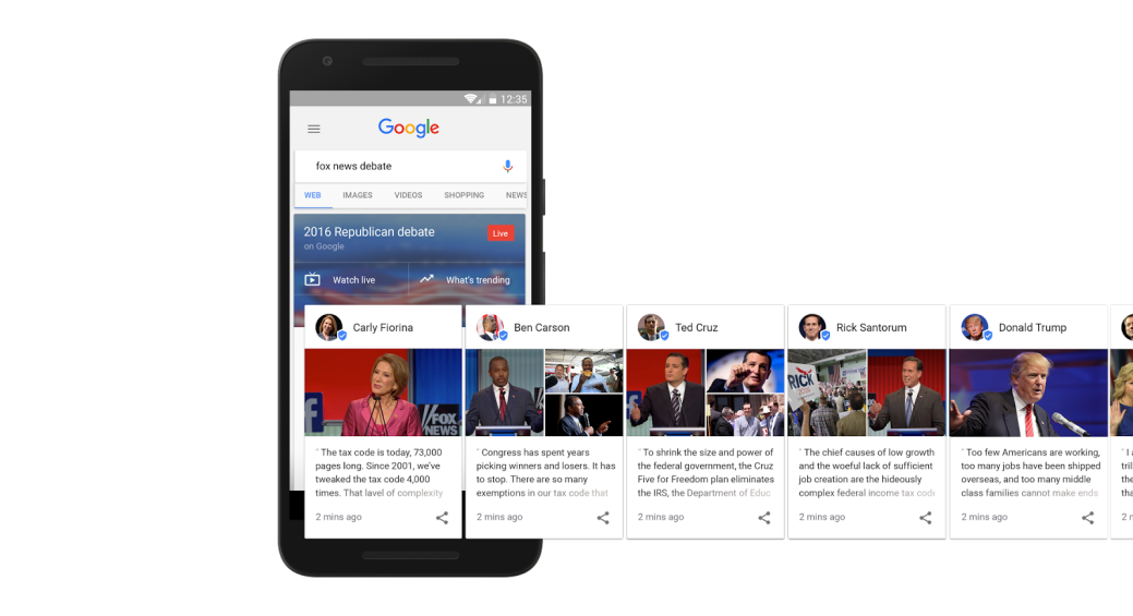 google candidate cards