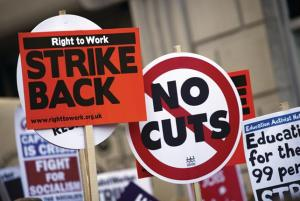 strike-placards