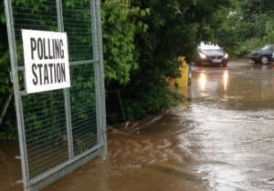referendum-flooded-polling-station