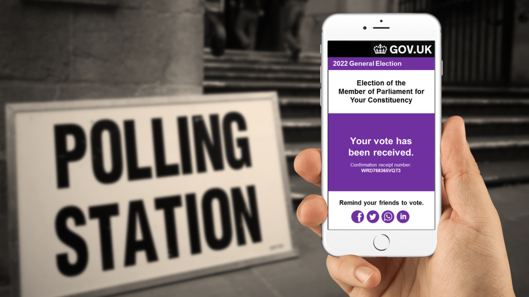 online voting polling station