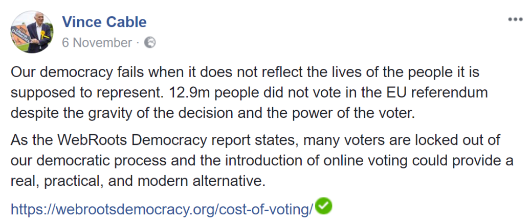 vince cable fb