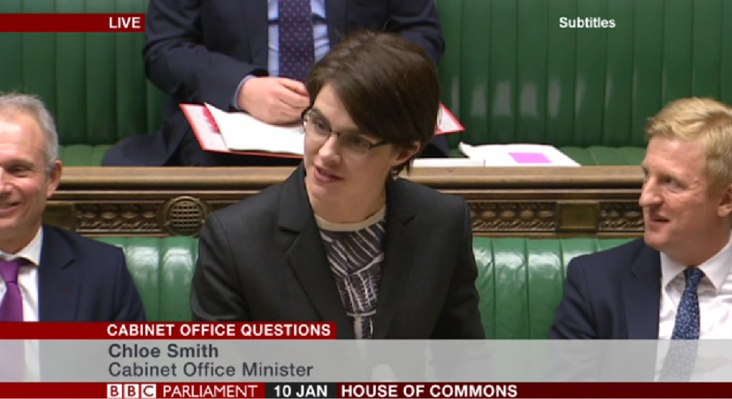 Chloe Smith Cabinet Office