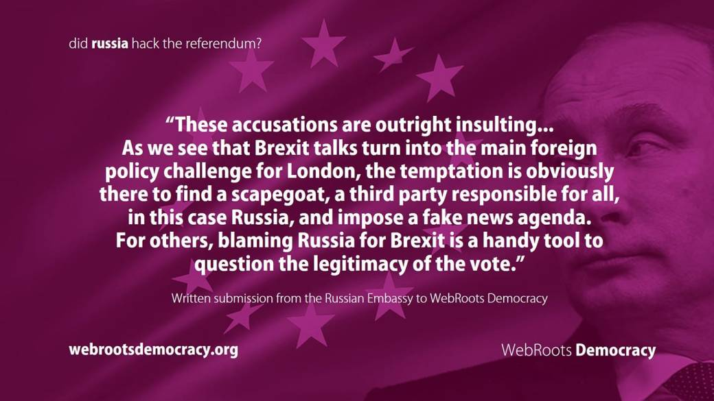 Russian embassy rebuttal