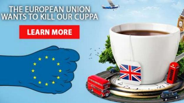 Vote Leave cuppa advert