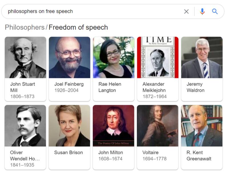 Free speech philosophers