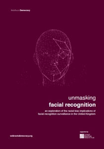 Unmasking Facial Recognition - Report Cover